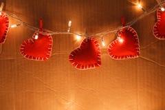 Czerwony serca zakończenie up Zdjęcia Stock