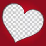 Czerwony serce Fotografia Stock