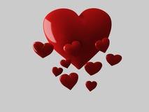 Czerwony serce, 3d ilustracja royalty ilustracja