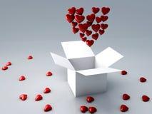 Czerwony serce 3d odpłaca się ilustracji