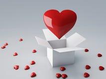 Czerwony serce 3d odpłaca się ilustracja wektor