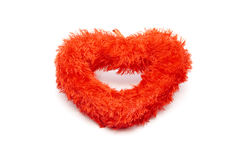 Czerwony serce dla Romantycznej dekoraci Zdjęcia Royalty Free