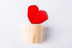 Czerwony serce i beczki Fotografia Stock