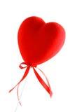 Czerwony serce i taśma Fotografia Stock