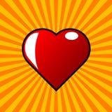 Czerwony serce i wybuch Obrazy Stock