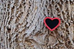 Czerwony serce na barkentynie Obraz Royalty Free