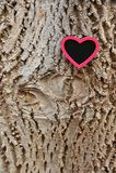 Czerwony serce na barkentynie Obraz Stock