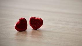 Czerwony serce na drewnie Zdjęcie Royalty Free