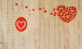 Czerwony serce od czerwień papieru Obrazy Stock