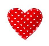 Czerwony serce odizolowywający na bielu Fotografia Royalty Free