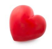Czerwony serce odizolowywający na bielu Obraz Royalty Free