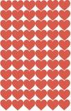 Czerwony serce projekt na Białym tle Miłość, serce, walentynka dzień Może używać dla artykułów, druk, Ilustracyjny zamierza, ilustracja wektor
