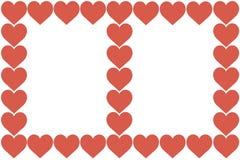 Czerwony serce projekt na Białym tle Miłość, serce, walentynka dzień Może używać dla artykułów, druk, Ilustracyjny zamierza, royalty ilustracja