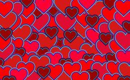 Czerwony serce wzór royalty ilustracja