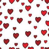 Czerwony serce wzór na białym tle ilustracja wektor