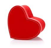 Czerwony sercowaty teraźniejszości pudełko Fotografia Royalty Free