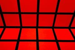Czerwony siatka abstrakta tło Obraz Stock