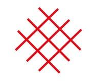 Czerwony siatka logo, odizolowywający na białym tle ilustracja wektor