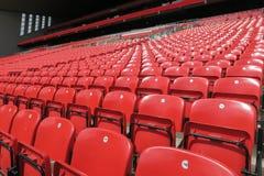 Czerwony siedzenie rząd Obrazy Royalty Free