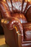 czerwony skóry fotel Obraz Royalty Free