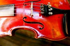 czerwony skrzypce Fotografia Royalty Free