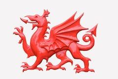 Czerwony smok obrazy royalty free