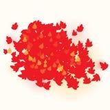 Czerwony spadków liści tła projekta szablon Zdjęcia Royalty Free
