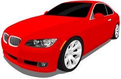 Czerwony sporta samochód Fotografia Royalty Free