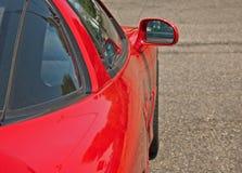 Czerwony sporta samochodu Boczny widok Obraz Stock