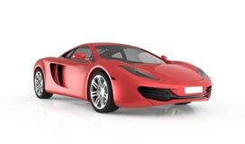Czerwony sportowy samochód Zdjęcia Stock