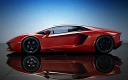Czerwony sportowy samochód Fotografia Royalty Free