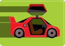 Czerwony sportowy samochód Zdjęcie Royalty Free