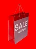 czerwony sprzedaży na zakupy Zdjęcia Stock