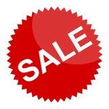 Czerwony sprzedaż znak, majcher lub Fotografia Stock