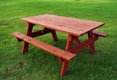 czerwony stół Obrazy Stock