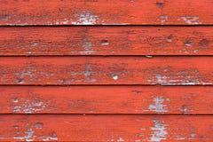 Czerwony stajni drewno Zdjęcie Stock