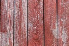 Czerwony stajni drewno Zdjęcia Royalty Free