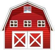 Czerwony stajnia dom royalty ilustracja