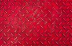 Czerwony stalowy tło Obrazy Stock