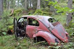 Parking w drewnie Zdjęcia Stock