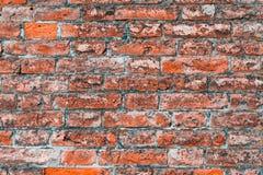 Czerwony stary ściana z cegieł tekstury tło z Obrazy Stock