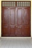 Czerwony Stary Drzwi Fotografia Stock