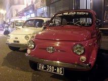 Czerwony stary Fiat 500 Obraz Royalty Free