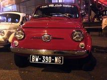 Czerwony stary Fiat 500 Zdjęcie Royalty Free