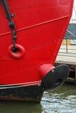 czerwony statek Zdjęcie Stock