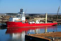 czerwony statek Zdjęcia Royalty Free
