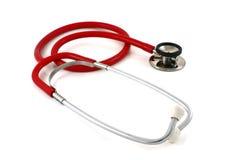 czerwony stetoskop Zdjęcia Stock