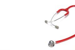 Czerwony stetoskop obraz royalty free