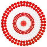 Czerwony strzałka cel - wektorowa cel ilustracja Fotografia Stock