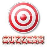 czerwony sukcesu celu słowo Obraz Stock